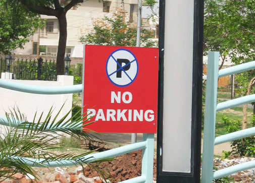 No Parking Signage in gurgaon