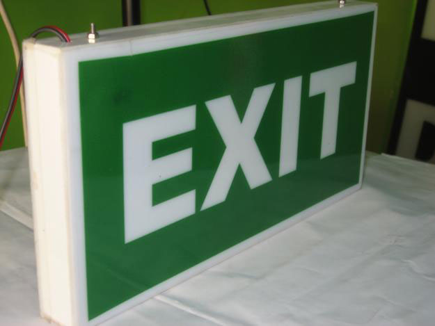Exit Sign board Manufacturers in gurgaon