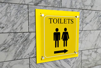 toilets sign board maker in gurgaon
